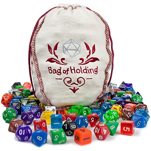 wiz-dice-bag-of-holding-140-polyhedral-dice-in-20-complete-sets-includes-bonus-deck-of-cards
