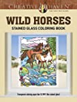 Creative Haven Wild Horses Stained Gl...