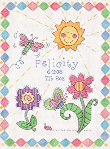 Dimensions Needlecrafts Counted Cross Stitch, So Sweet Birth Record
