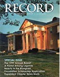 img - for The Record of Sigma Alpha Epsilon (Winter 2000) Single Magazine Issue book / textbook / text book