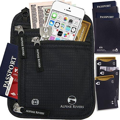 neck-wallet-passport-holder-travel-pouch-rfid-blocking-5-bonus-sleeves-in-gift-box