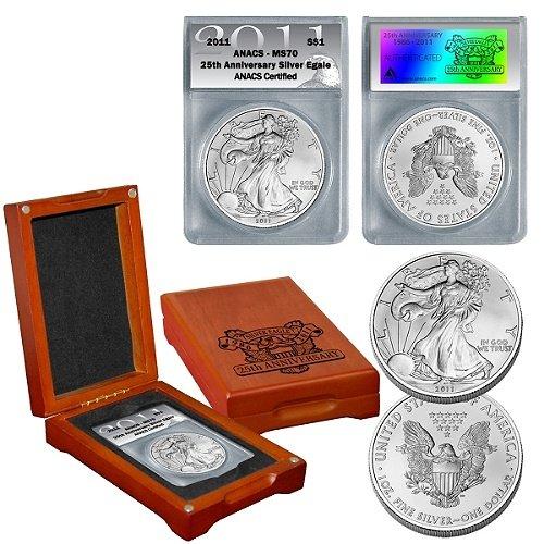 2011 ANACS MS70 Eagle Dollar Coin