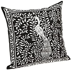 Zodax Throw Pillows : Amazon.com - Zodax Raj Peacock Print Throw Pillow