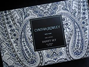 Amazon Cynthia Rowley Full Queen Duvet Set Paisley