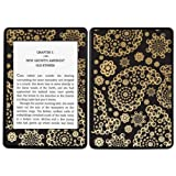 Diabloskinz Vinyl Adhesive Skin Decal Sticker for Amazon Kindle Paperwhite - Pasley Black and Gold