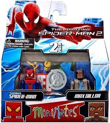 Marvel Minimates Exclusive Amazing Spider-Man 2 Movie Series 56 Mini Figure 2-Pack Flashback Spider-Man & Max Dillon by Diamond Select (English Manual)