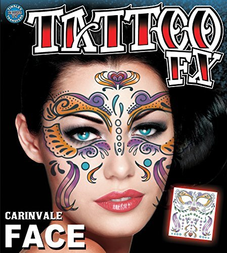 Tinsley Transfers Carnivale Face Temporary Tattoo FX Face Kit by Tinsley Transfers (Carnivale Costume Ideas)