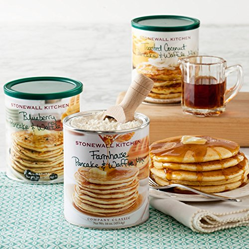 Stonewall Kitchen Our Pancake Collection 3 Pack Pancake & Waffle Mix Includes Blueberry, Farmhouse and Toasted Coconut Pancake & Waffle Mix (Stonewall Kitchen Pancake Mix compare prices)
