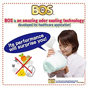 BOS, Disposable Adult Diaper Bags Proven for Amazing Odor-sealing Performance (120 Bags - 2 Packs of 60) [Size:XL, Color:White] from BOS-SHOP