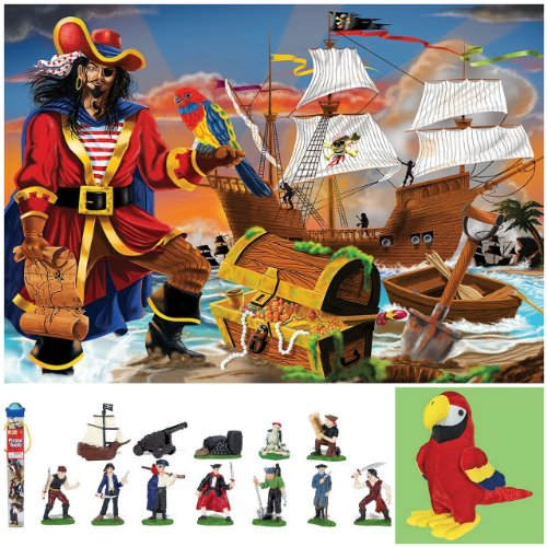Cheap Bundles of Fun Melissa & Doug Pirate's Bounty Floor Puzzle with Pirate Toob Bundle of 3 Items with **BONUS** by Bundles of Fun (B0051AEVZ4)