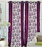 "Hargunz Eyelet Kolaveri Polyester Door Curtains - 84""x48"", Pack of 2 Curtain, Purple (KS036-2-2)"