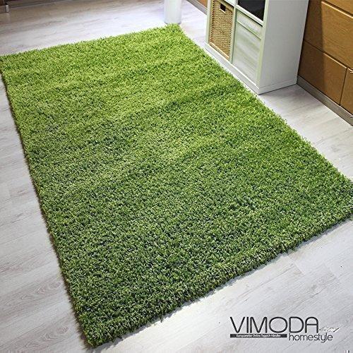 Moderner Shaggy Hochflor Teppich – Grün 200×290 NEU OVP