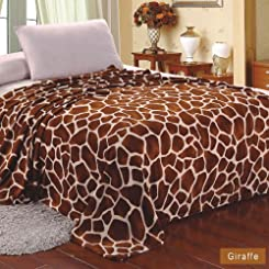 MicroPlush Printed Blanket Giraffe