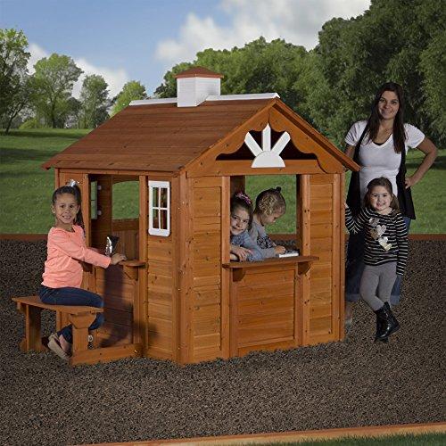 Kids Outdoor Cedar Wooden Playhouses Summer Cottage