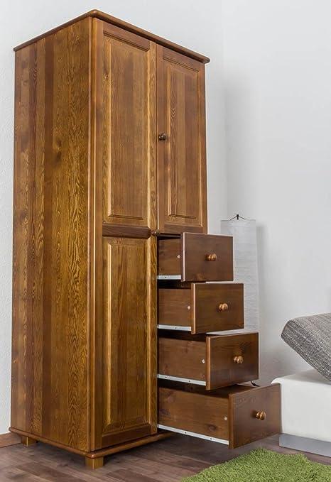 Echtholz-Kleiderschrank, Farbe: Eiche 190x80x60 cm