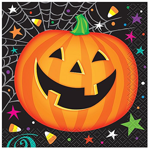 Pumpkin Pals Halloween Beverage Napkins, 16ct - 1