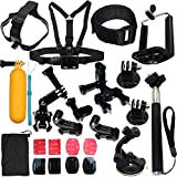 Camera Accessories Kit Bundle Attachments for Gopro Hero 7 6 5 4 3 2 1 3+, Hero Session 5, SJ4000 SJ5000 HD Action Video Cameras DVR by LotFancy, 23-in-1 Sports Accessories Kit (Color: 23-in-1, Tamaño: 12-in-1)