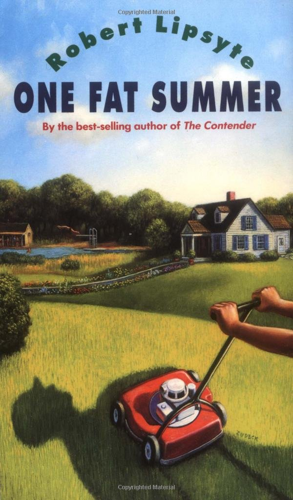 Book cover to 'One Fat Summer'