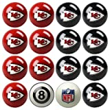 NFL Kansas City Chiefs Home Versus Away Team Billiard 8-Ball Set