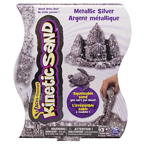 Kinetic Sand,  1lb Metallic Silver - 1