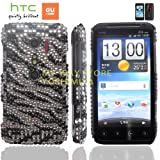 htc EVO 3Dケース shiny decoration Case (au ISW12HT対応)【ハンドメイド/デコ電】【Wild BLACK Zebra (ジブラ黒)】