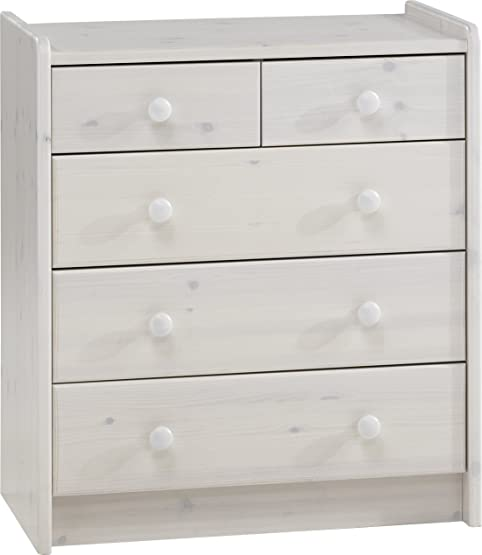 Steens Furniture, Mobiletto con cassetti, Bianco (white wash)