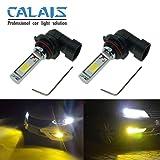 Calais Extremely Bright LED 9006 HB4 COB Chips Yellow 30W Fog Light Bulbs Plug-n-Play(pack of 2) (Tamaño: 9006(HB4))