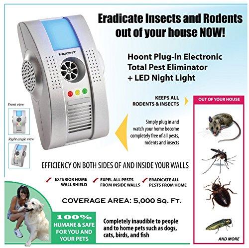 hoont 2 pack plug in electronic total pest eliminator. Black Bedroom Furniture Sets. Home Design Ideas
