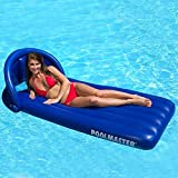 """74"""" Blue Swimming Pool Inflatable Canopy Floating Air Mattress Raft"""