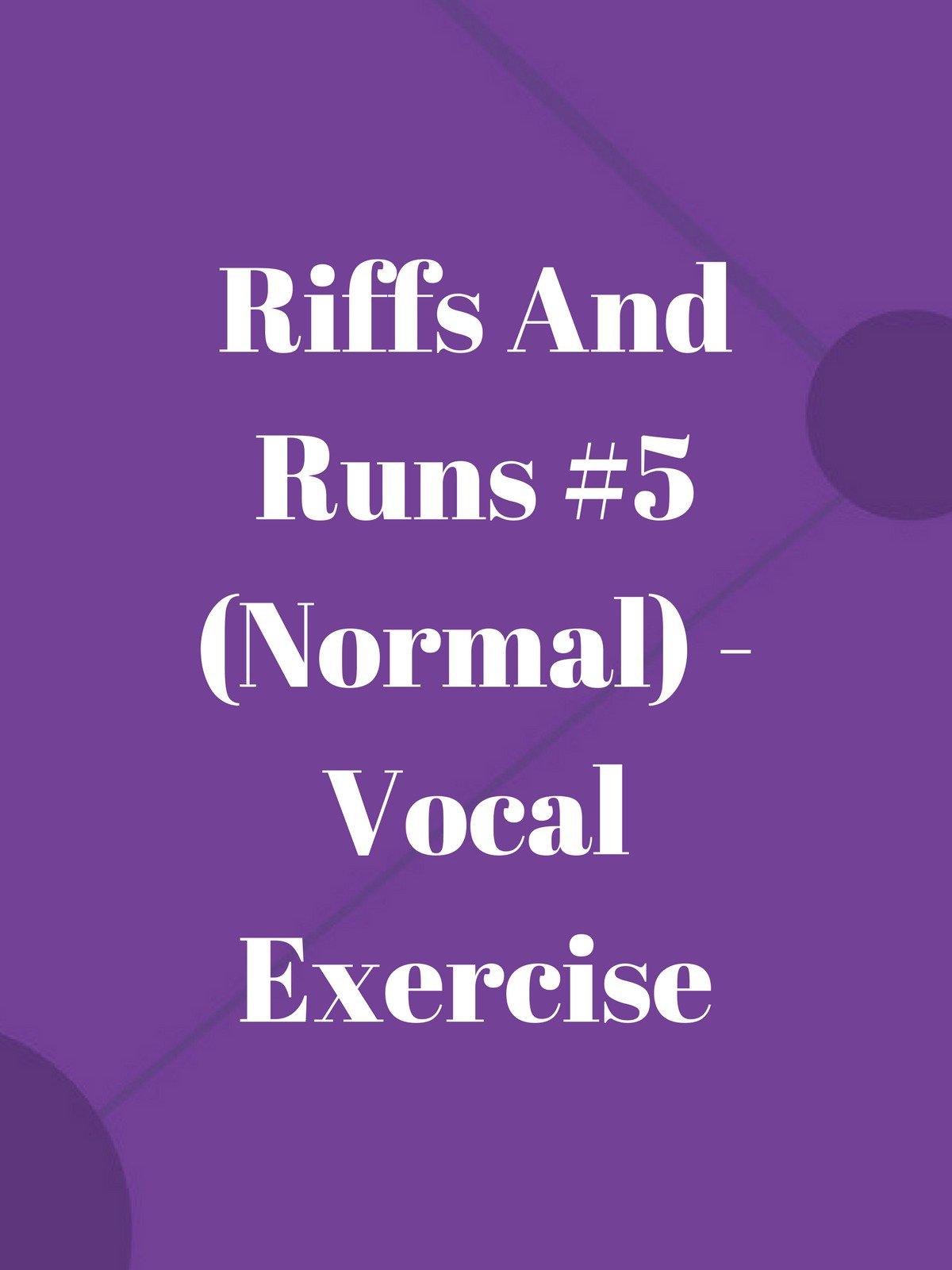 Riffs And Runs #5 (Normal)