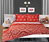 Bellagio Elegance Cotton 1 Double Bed Sheet & 2 Pillow Covers (Multicoloured)