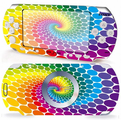 RAINBOW Design Sony PSP 3000 Slim Vinyl Skin Decal Cover Sticker Protector (Matte Finish)+ Free Screen Protector