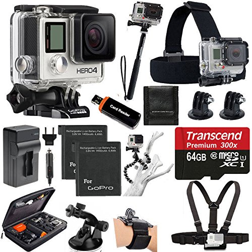 Review GoPro HERO4 SILVER Edition Camera HD Camcorder With Deluxe Carrying Case + Head Strap + Chest...