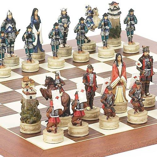Japanese Samurai Chessmen Stuyvesant Street Chess Board ...