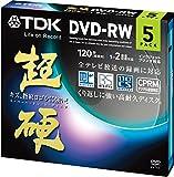 TDK 録画用DVD-RW CPRM対応 1-2倍速対応 ホワイトワイドプリンタブル 超硬シリーズ 5枚パック DRW120HCDPWA5A
