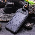 Dizaul� 5000mAh Solar Charger Waterpr...