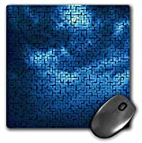 Sandy Mertens Tile Designs - Dark Blue Clouds Tile Pattern - MousePad (mp_6197_1)