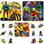 36 Superhero Temporary Childrens Kids Tattoos and Puzzle Kids Xmas Stocking Fillers Party Bag Loot Fillers Toys