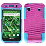 Purple Blue 2 in 1 Hybrid Rubber Plastic Skin Case Cover for Samsung Galaxy S Vibrant T959/ Samsung Galaxy S 4g/ T-mobile