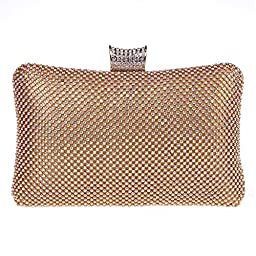 Fawziya Big Evening Bags For Women Rhinestone Crystal Clutch Bag-AB Gold