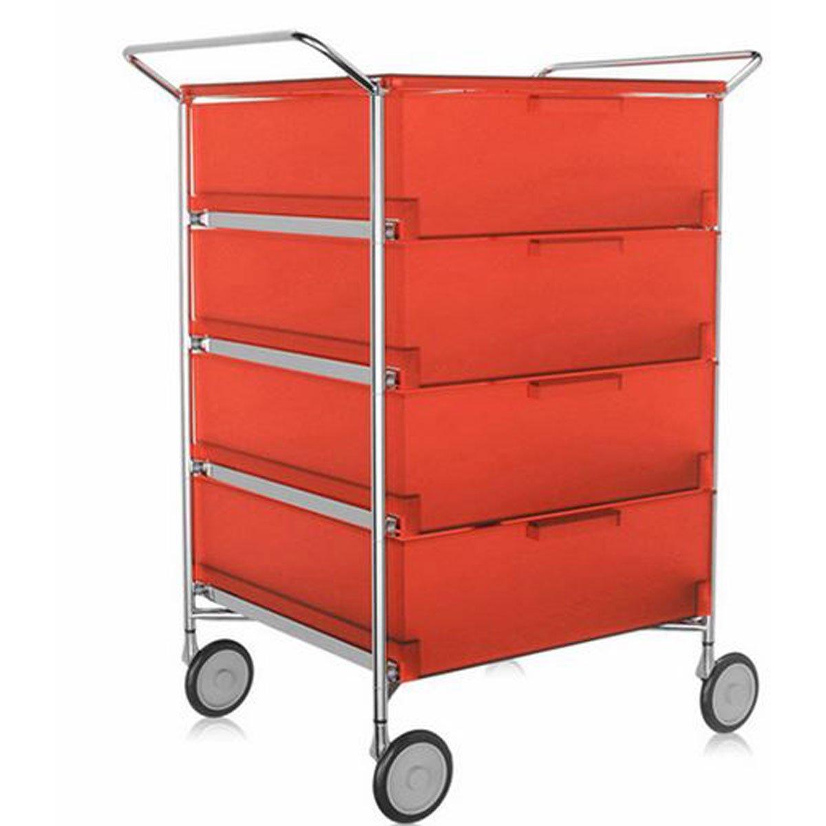 Kartell 2335L4 Container Mobil, 4 Schubladen, dunkelorange