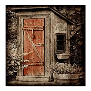 Amazon.com - CafePress Vintage Old Outhouse Shower Curtain
