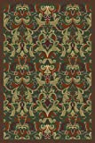 Regence Home 91360 Agra Woven Area Rug, Emerald, 60-Inch by 84-Inch