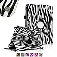 Fintie (Zebra) 360 Degrees Rotating Stand Case Cover for Samsung Galaxy Note 10.1 inch Tablet N8000 N8010 N8013...