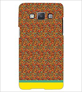 PrintDhaba Shapes Pattern D-1505 Back Case Cover for SAMSUNG GALAXY A5 (Multi-Coloured)