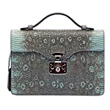 Gucci Lady Lock Blue Baby Python Leather Top Handle Bag 331823 LCA0F