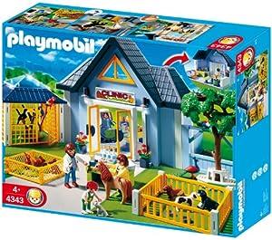 Playmobil animal clinic toys games for Playmobil pferde set