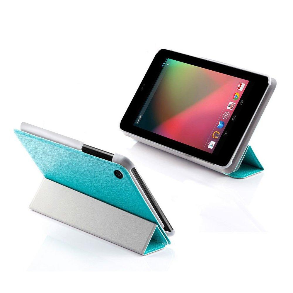 Ordel® Funda de cuero (PU) elegante para Asus Google Nexus 7 Tablet VII V2 2013 + protector de la pantalla y lápiz (Azul)  Electrónica revisión y más información