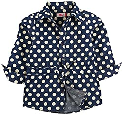 Oye Girls Printed Denim Tunic Shirt - Light Blue (2-3Y)