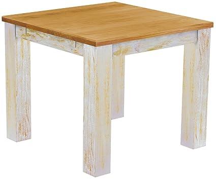 Brasil 'Rio' 90x 90cm Furniture Dining Table–Solid Pine Wood–LH–Honey